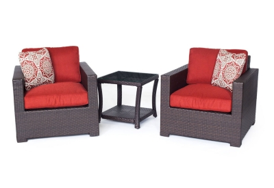 Hanover - METRO3PC-B-BRY - Patio Seating Sets