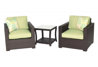 Hanover - METRO3PC-B-GRN - Patio Seating Sets