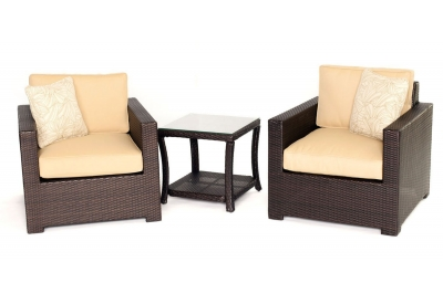 Hanover - METRO3PC-B-TAN - Patio Furniture
