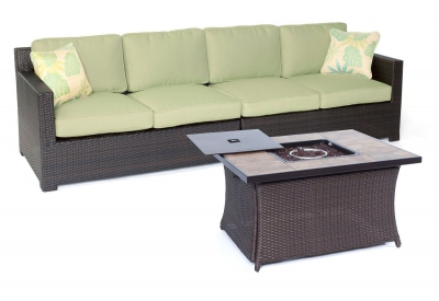 Hanover - METRO3PCFP-GRN-B - Patio Seating Sets