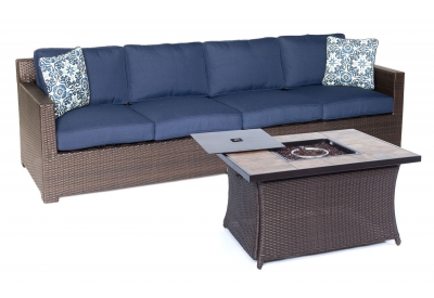 Hanover - METRO3PCFP-NVY-B - Patio Furniture