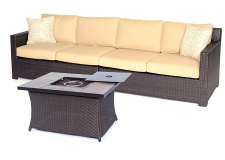 Hanover - METRO3PCFP-TAN-A - Patio Seating Sets