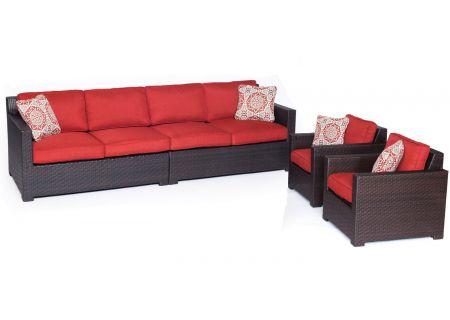 Hanover Metropolitan Autumn Berry & French Roast 4-Piece Outdoor Seating Patio Set  - METRO4PC-B-BRY