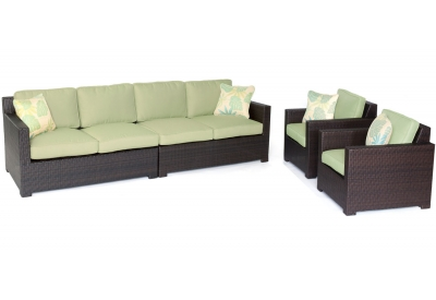 Hanover - METRO4PC-B-GRN - Patio Furniture