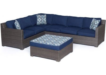 Hanover - METRO5PC-G-NVY - Patio Seating Sets