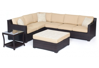 Hanover - METRO6PC-B-TAN - Patio Seating Sets