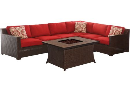 Hanover - METRO6PCFP-BRY-B - Patio Seating Sets