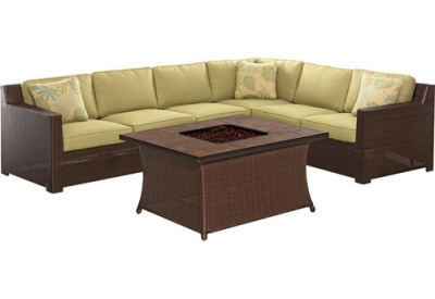 Hanover - METRO6PCFP-GRN-B - Patio Seating Sets