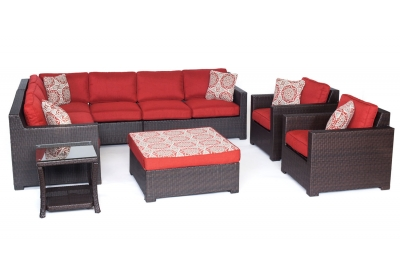 Hanover - METRO8PC-B-BRY - Patio Seating Sets