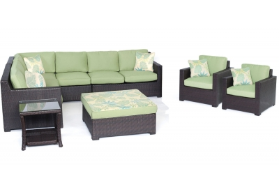 Hanover - METRO8PC-B-GRN - Patio Furniture