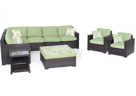 Hanover - METRO8PC-B-GRN - Patio Seating Sets