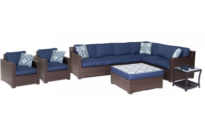 Hanover - METRO8PC-B-NVY - Patio Furniture