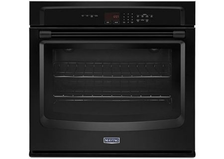 "Maytag 30"" Black Single Electric Wall Oven - MEW7530DB"