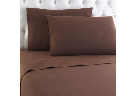 Shavel Micro Flannel California King Chocolate Sheet Set - MFNSSCKCHO