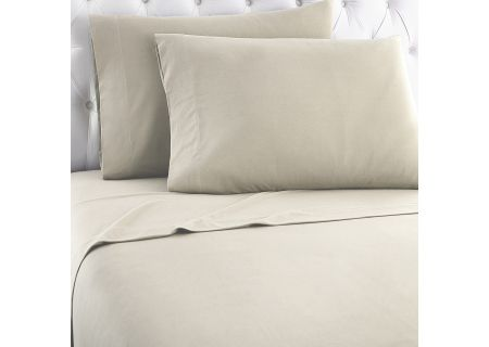 Shavel Micro Flannel California King Taupe Sheet Set  - MFNSSCKTAU