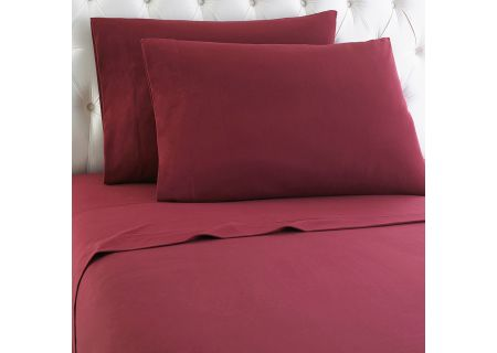 Shavel Micro Flannel California King Wine Sheet Set  - MFNSSCKWNE