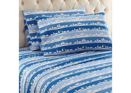 Shavel Micro Flannel Queen Winter Village Sheet Set  - MFNSSQNWVL