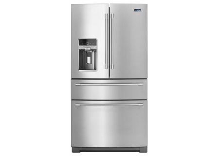 """Maytag 36"""" Fingerprint Resistant Stainless Steel 4-Door French Door Refrigerator  - MFX2676FRZ"""
