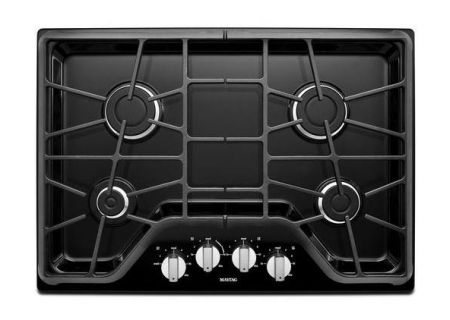 """Maytag 30"""" Black Gas Cooktop  - MGC7430DE"""