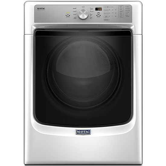 Maytag White Electric Steam Dryer Med5500fw