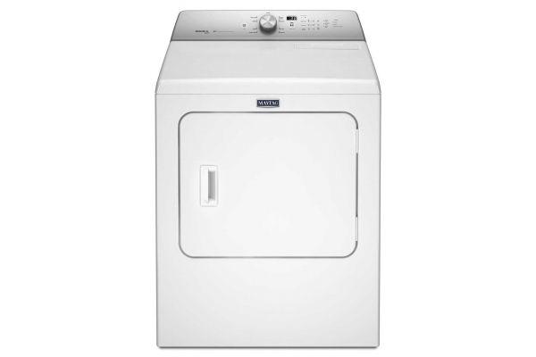 Maytag White Steam-Enhanced Cycles Gas Dryer - MGDB766FW
