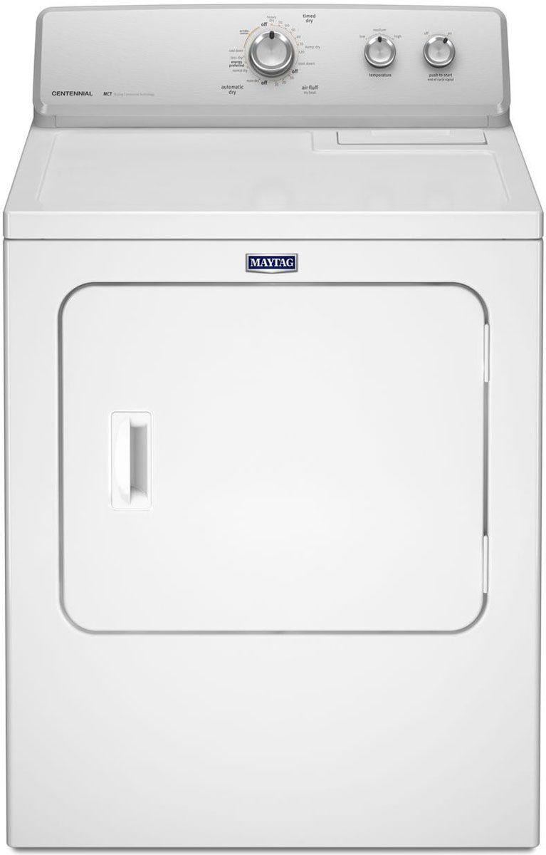 Maytag White Electric Dryer - MEDC215EW