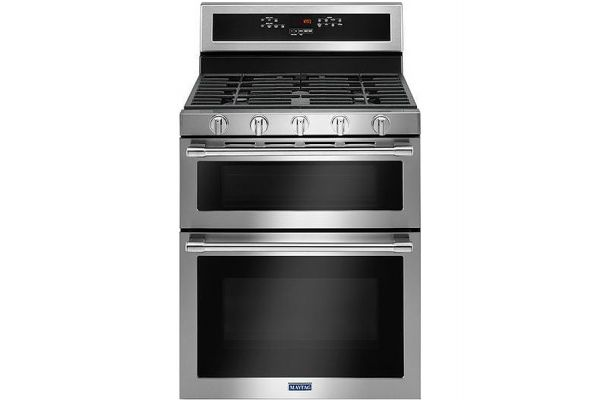 """Large image of Maytag 30"""" Fingerprint Resistant Stainless Steel Double Oven Gas Range - MGT8800FZ"""