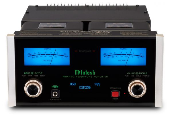 Large image of McIntosh Black MHA150 2-Channel Headphone Amplifier - MHA150