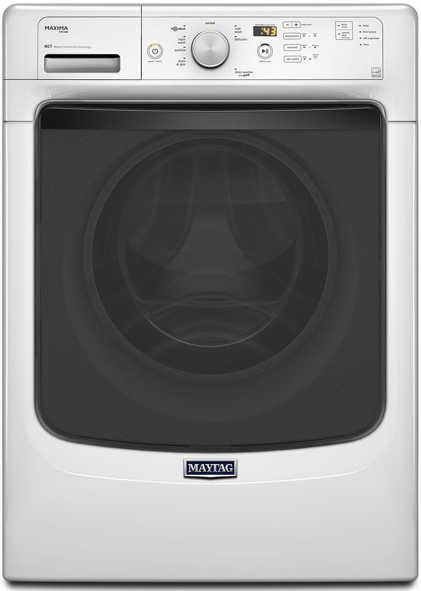 Maytag Maxima White Front Load Steam Washer Mhw5400dw