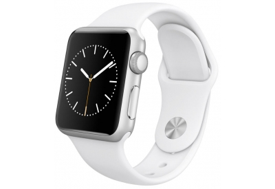 Apple Watch Sport 38mm Silver Aluminum Case With White Sport Band - MJ2T2LL/A