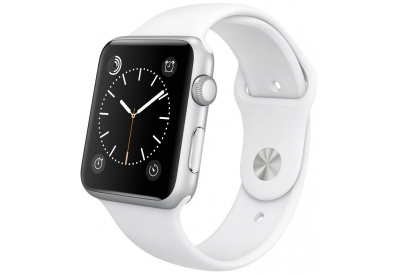 Apple Watch Sport 42mm Silver Aluminum Case With White Sport Band - MJ3N2LL/A