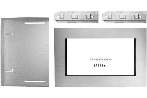 "Large image of KitchenAid 30"" Fingerprint Resistant Stainless Trim Kit For Countertop Microwave Oven - MK2160AZ"