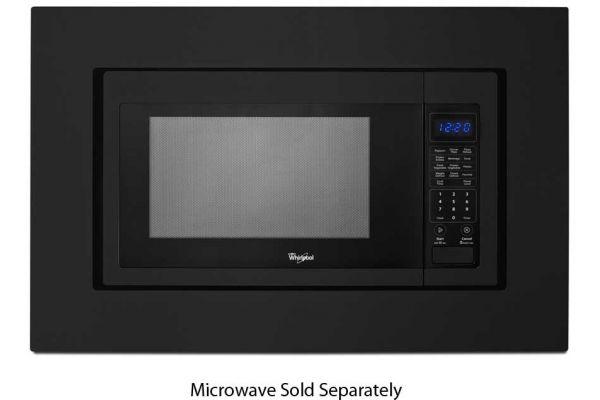 "Large image of Kitchenaid 30"" Black Built-In Microwave Trim Kit - MK2160AB"