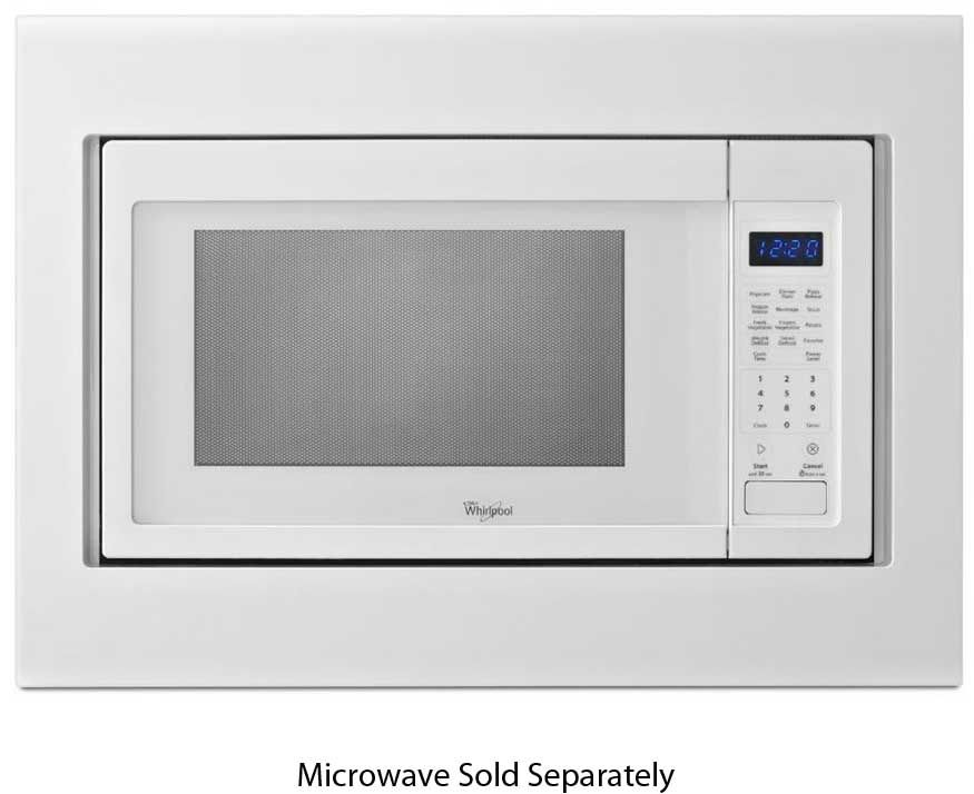 Kitchenaid 27 White Built In Microwave Oven Trim Kit Mk2167aw