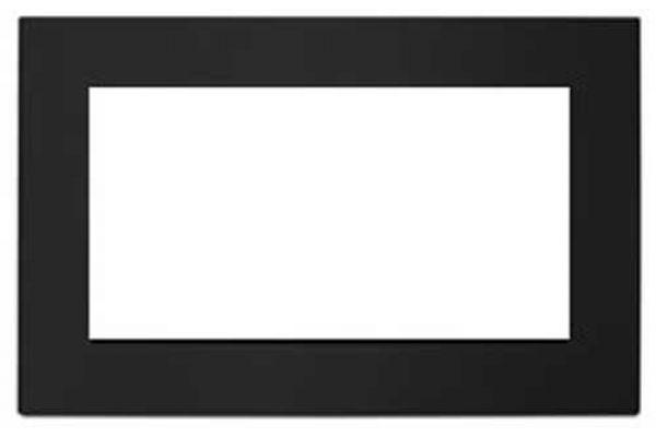 "Large image of KitchenAid 27"" Black Built-In Microwave Oven Trim Kit - MK2167AB"