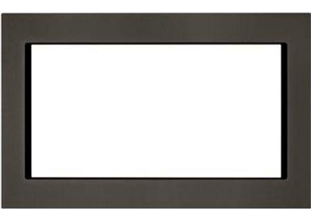 """KitchenAid 30"""" Black Stainless Steel Trim Kit For Countertop Microwaves - MK2220AV"""