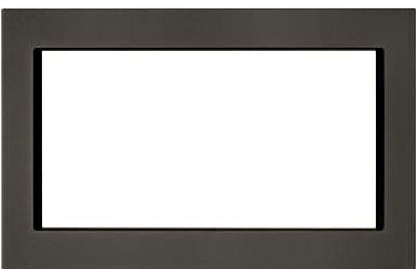 "Large image of KitchenAid 30"" Black Stainless Steel Trim Kit For Countertop Microwaves - MK2220AV"