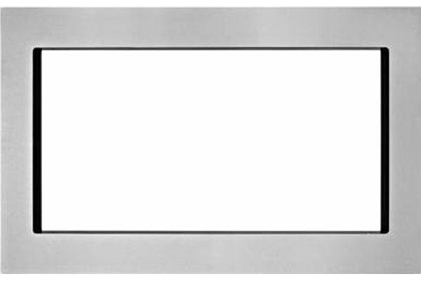 "Large image of KitchenAid 30"" Fingerprint Resistant Stainless Steel Trim Kit For Countertop Microwaves - MK2220AZ"