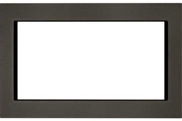 "Large image of KitchenAid 27"" Black Stainless Steel Trim Kit For Countertop Microwaves - MK2227AV"
