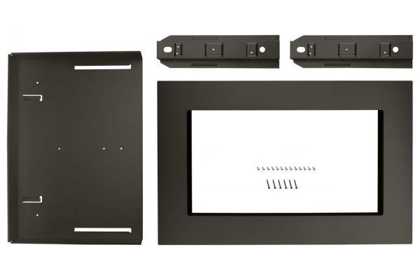 "Large image of KitchenAid 27"" Black Stainless Steel Trim Kit For Countertop Microwave Oven - MKC2157AV"