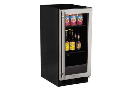 "Marvel 15"" Stainless Steel Glass Door Beverage Center - ML15BCG2RS"