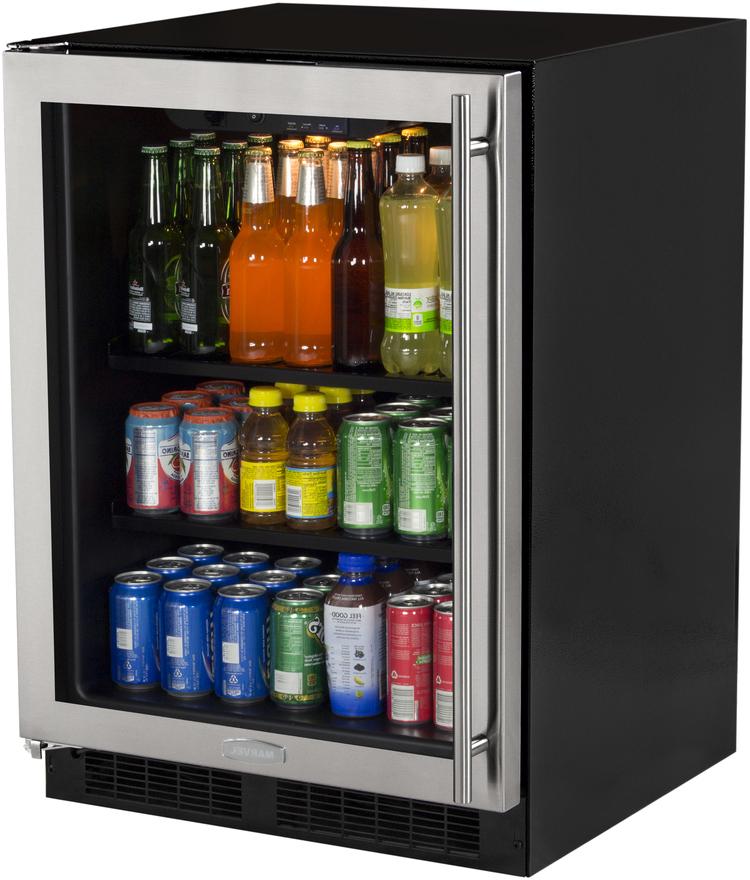 marvel 24 quot stainless steel beverage center ml24bcg0ls