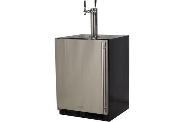 "Marvel 24"" Stainless Steel Twin Tap Built-In Beer Dispenser - ML24BTS2LS"