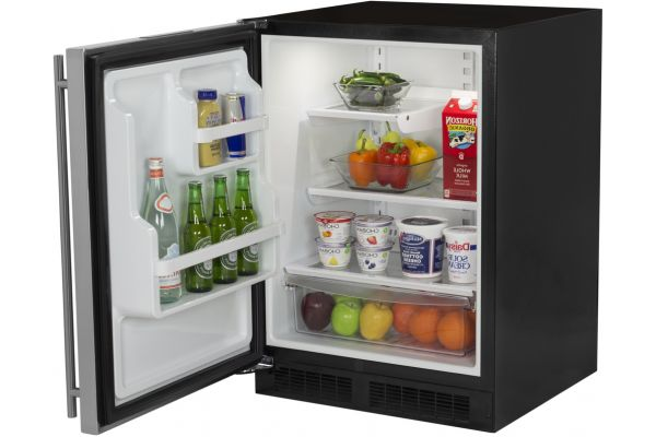 """Large image of Marvel 24"""" Stainless Steel Undercounter Compact Refrigerator - ML24RAS2LS"""