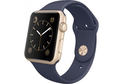 Apple Watch Sport 42mm Gold Aluminum Case With Midnight Blue Sport Band - MLC72LL/A