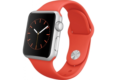 Apple Watch Sport 38mm Silver Aluminum Case With Orange Sport Band - MLCF2LL/A