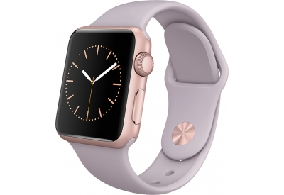Apple Watch Sport 38mm Rose Gold Aluminum Case With Lavender Sport Band - MLCH2LL/A