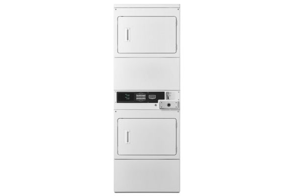 Large image of Maytag White Commercial Super Capacity Stack Dryers  - MLG26PDBWW