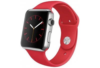 Apple Watch 42mm Stainless Steel Case With (PRODUCT)RED Sport Band - MLLE2LL/A