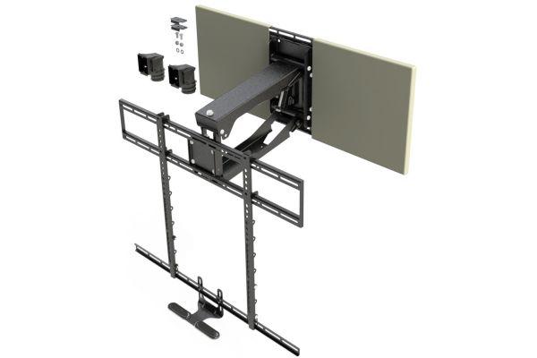 Large image of MantelMount Black Pro Series Pull Down TV Mount - MM700